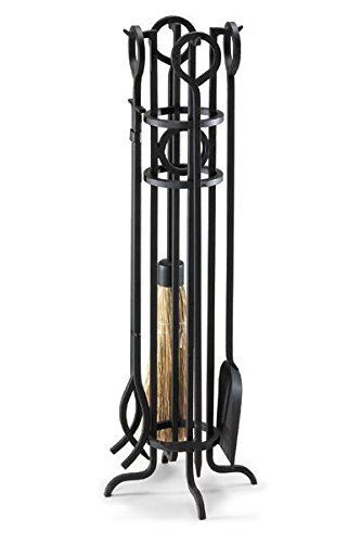 Pilgrim Home and Hearth 19004 Napa Forge Arts and Crafts Fireplace Tool Set, Black by Napa Forge