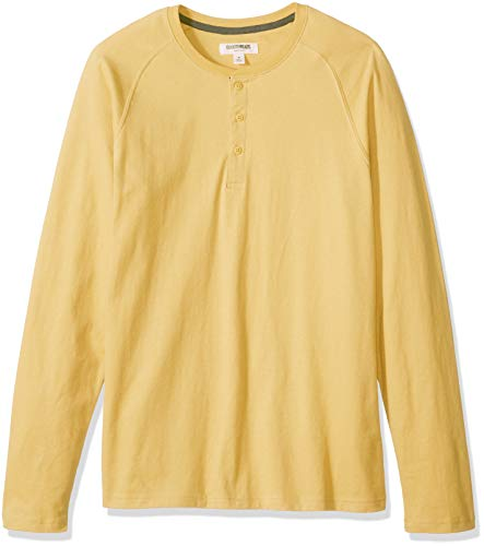 - Goodthreads Men's Long-Sleeve Sueded Jersey Henley, Yellow, XX-Large Tall