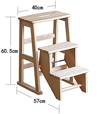 XUQIANG Taburete de Madera Maciza Escalera 2 escalones Muebles Taburete Banco de Madera Silla Plegable for niños Multifunción 3 escalones Tritthocker (Size : 3-Step): Amazon.es: Hogar