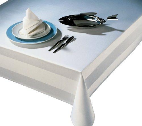 DAMAST Tischdecke Gastro Edition Eckig Weiß 140x240 140 x 240 cm mit Atlaskante Größe wählbar DAMAST Tischwäsche , Serviette , Tischläufer von DecoHometextil