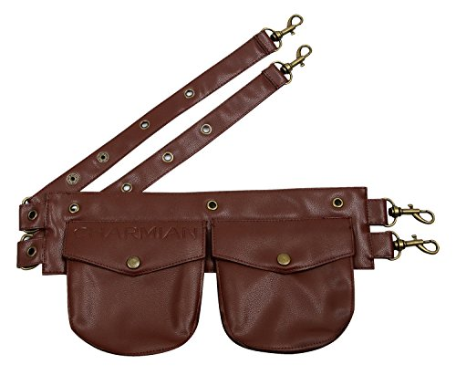 Charmian Women's Steampunk Gothic Leather Pouch Belt Corset Costume Accessories Brown