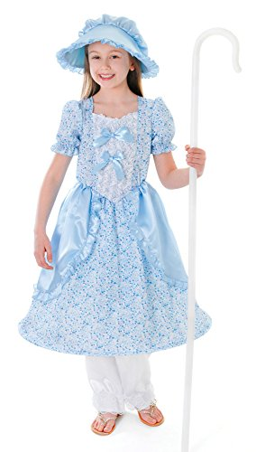 Bristol Novelty CC148 Little Bo PeepKid's Costume, Medium, Height 122 - 134 cm, Approx Age 5 - 7 Years, Little Bo Peep (M) ()