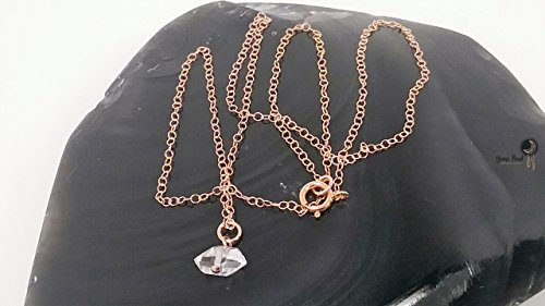 stal Necklace With Rose Gold Chain and clasp ()