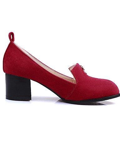 5 tac¨®n 7 Cn43 Black Azul tacones Red Zapatos 5 Eu37 Zq Uk8 oficina 5 Robusto Uk4 negro Trabajo Mujer us10 Rojo Casual Y Puntiagudos De Eu42 vell¨®n 5 Cn37 5 us6 tacones FB1Btgqn