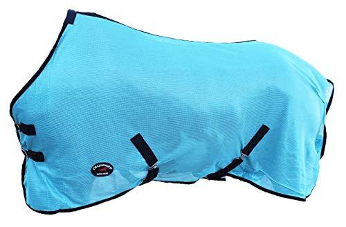 "Challenger Horsewear 70"" Horse Fly Sheet Summer Spring Airflow Mesh UV Turquoise 7301"