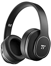 Bluetooth Earphones, TaoTronics Active Noise Cancelling Headphones, Durable Over Ear Headphones with Soft Protein Ear Pads & 24 Hour Playtime, Foldable, CVC 6.0 Noise Cancelling Mic