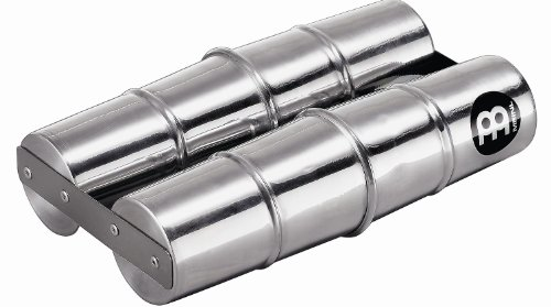 Meinl Percussion SSH2-M Aluminum Double Samba Shaker, Medium