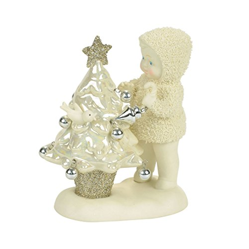 "Department 56 Snowbabies ""Oh Christmas Tree"" Porcelain Figurine, 4.49"""