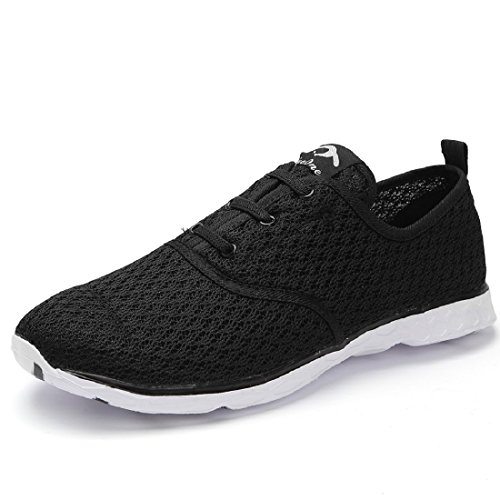 Eyeones Womens Mesh Slip Op Waterschoenen Black (stylish)