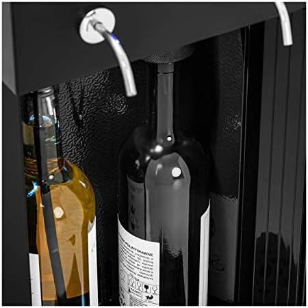 Royal Catering Nevera Para Vinos Refrigerador Vinoteca RC-RC-WDB2 (Potencia: 95 W, Con dispensador, Para 2 botellas, Acero, vidrio y plástico)