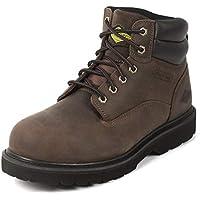 "Steel Toe Work Boots for Men 6"" - Slip Resistant Composite Men's Safety Shoes"
