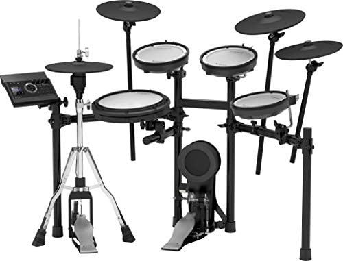Roland TD-17KV Electronic Drum Kit Bundle with 4 Pairs of Drumsticks and Drum Throne