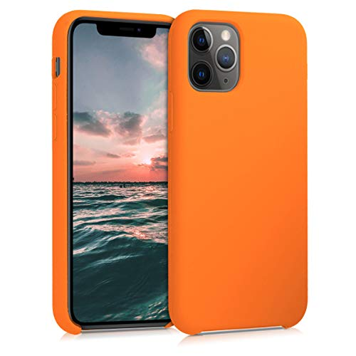 kwmobile TPU Silicone Case Compatible with Apple iPhone 11 Pro - Soft Flexible Rubber Protective Cover - Cosmic Orange