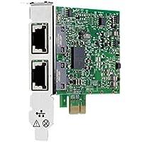 HP 332T - Network adapter - PCI Express 2.0 x1 low profile - Gigabit Ethernet x 2 - for ProLiant DL360e Gen8, DL385p Gen8, ML310e Gen8, ML350e Gen8, ML350p Gen8, SL270s Gen8