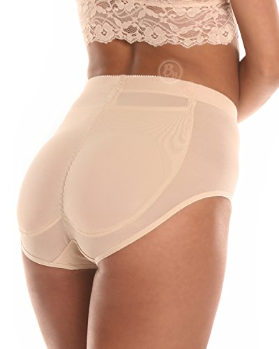 [BB Silicone Padded Panty by Bubbles Bodywear (Small, Nude)] (Padded Underwear)