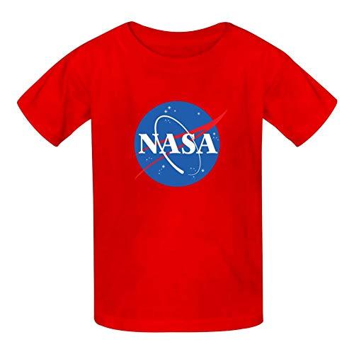 NASA Youth/Kids Short Sleeve Crew T Shirts Causal Tee Tops Red