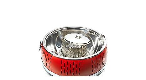 Aobosi Rauchfreier Holzkohlegrill : Rauchfreier holzkohle tischgrill rot cool touch 2.0 holzkohlegrill