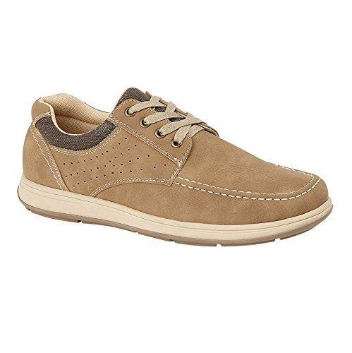 Sapphire Boutique by Sapphire Zafiro Boutique Hombre Tobillo Piel Ante Sintética Elegante Cómodo Zapatos con Cordones Mocasines Zapatillas - Beige, ...