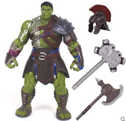 ALANAST Hulk Action Figure 15 inch Marvel Thor 3 Ragnarok Hands Moveable War Hammer PVC