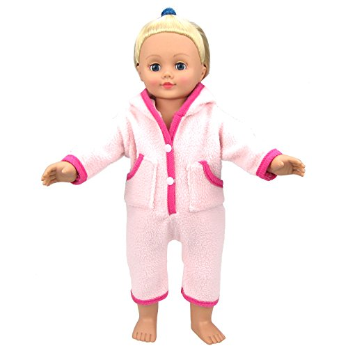 Cute-Baby-Doll-Pink-Clothes-Clothing-Rompers-Jumpsuits-Dresses-with-Hat-for-14-16-Inches-American-Girl-Dolls
