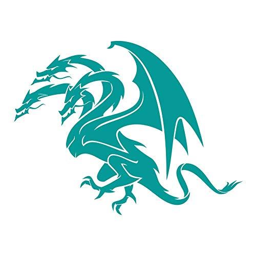 Three Headed Hydra Dragon - 9 inch Turquoise Indoor Outdoor Vinyl -