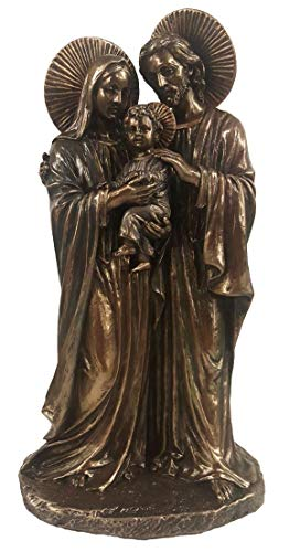 Holy Family Bronze - Veronese Collection Holy Family 8.5 Inch Bronze Statue