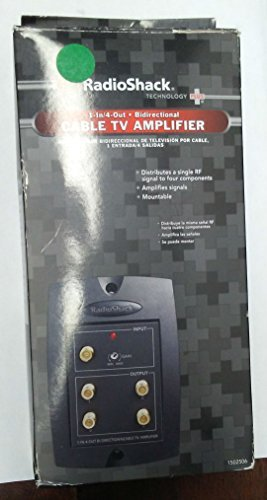 RadioShack 1-in/4-out Bidirectional Cable TV Amplifier