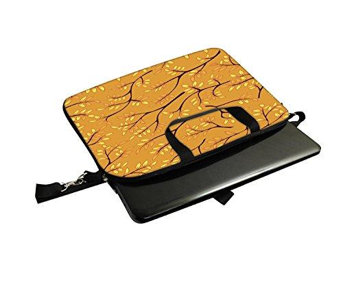 Snoogg Eine nahtlose Muster mit Blatt gedruckt Notebook-Tasche mit Schultergurt 15 bis 15,6 Zoll