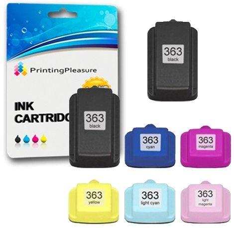 10 opinioni per Printing Pleasure KIT 7x HP 363 Cartucce d'inchiostro compatibili per HP