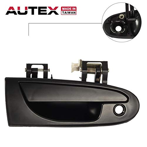 (AUTEX Exterior Front Right Passenger Side Door Handle Compatible with Mitsubishi Eclipse,Chrysler Sebring Coupe 1995-1999 Replacement for Eagle Talon 95-98,Dodge Avenger 95-00 77494)