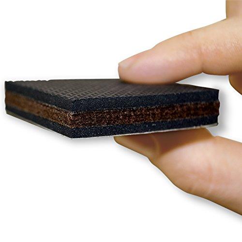 NON SLIP 16 SQUARE Furniture Pads Premium Rubber Felt Import It All