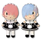 Re:Life In A Different World From Zero: Ram Rem Plush Doll Deformed Version Set of 2