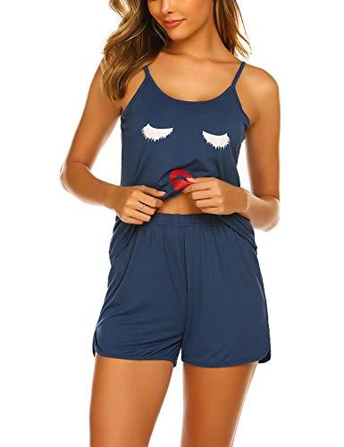 (Ekouaer Woman Sleepwear Pajamas Set Shorts Nightwear Camisole Short Sets)