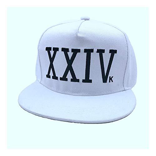 DAMENGXIANG Gorra De Béisbol Unisex Bruno Mars Sombrero De Algodón Rapero Dad Hat Hip Hop Snapback Gorras Sun Casquette Caps Blanco Blanco