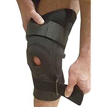 Knee Brace Adjustable Knee Support – Hinged Stability Brace for Running, ACL or Meniscus Tear. Patella or Joint Tendinitis Pain Relief with Compression Fits Left & Right Knees