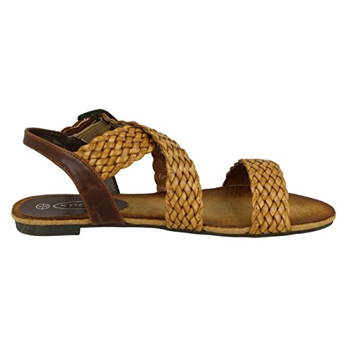On Strap X Tan Plaited Flat Sandal Spot Beige dHFgxd