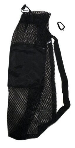 (101SNORKEL Mesh Drawstring Aquatic Snorkel Swim Sport Bag with Black Zip Pocket)