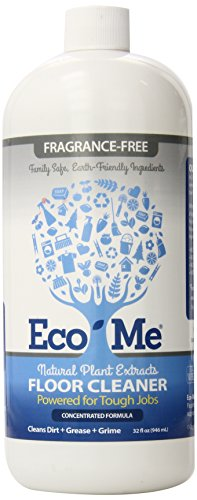 Eco Me Natural Non-Toxic Multi-Surface Floor Care Cleaner, Healthy Fragrance-Free Scent, 32 Ounces