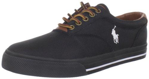 Polo Ralph Lauren Men's Vaughn Nylon Sneaker, Black, 11 D US