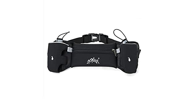 Amazon.com : Exercise Double-Pack Running Waist Pack can Hold Water Bottles, Black : Sports & Outdoors