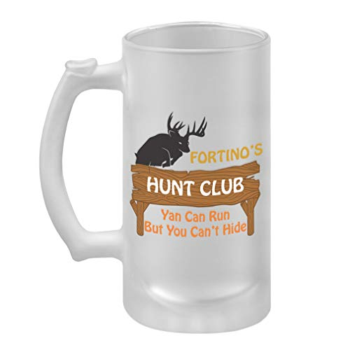 Personalized Custom Text Hunt Club Wood Sign Frosted Glass Stein Beer Mug
