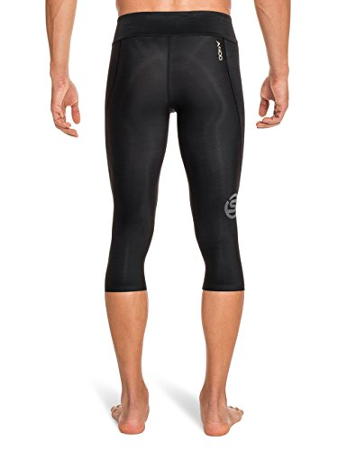 Skins Men's A400 Compression 3/4 Tights, Black/Gold, Small by Skins (Image #2)