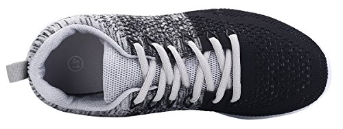 Athletic Running Black Breathable WELMEE Tennis Lightweight Casual Men's Shoes Sneakers Walking Knit 6wYzqBPw