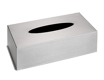 Wenko Caja para Panuelos, Acero Inoxidable, Plata, 12x25x8 cm