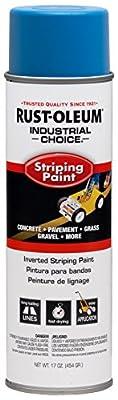 Rust-Oleum 263446 Industrial Choice Inverted Striping 18 oz Spray Paint, Dark Blue/Blue