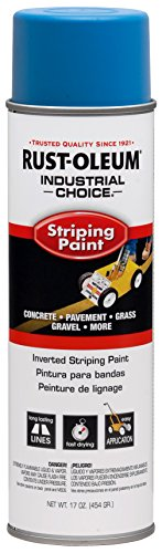Rust-Oleum 263446 Industrial Choice Inverted Striping 18 oz Spray Paint, Dark Blue/Blue (Striping Spray Paint)