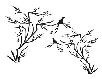 Amazon De Fenstersticker No 112 Japanischer Vogel Glas Fenster