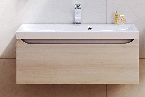 Badmöbel Set Linie VERO 2-teilig Unterschrank 80 cm breit Akazie ... | {Badezimmermöbel holzoptik 52}