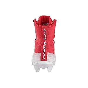 Under Armour Boys' Highlight RM Jr. Football Shoe, Red (600)/White, 4