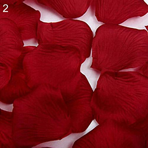 WskLinft 1000 Pcs Wedding Party Scatter Confetti Fake Rose Flower Petals Table Decor - Red Free - Red Scatter Petals